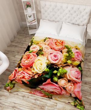 Покрывало Букет французских роз Сирень