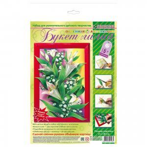Набор для изготовления картины Букет лилий, оригами Клевер