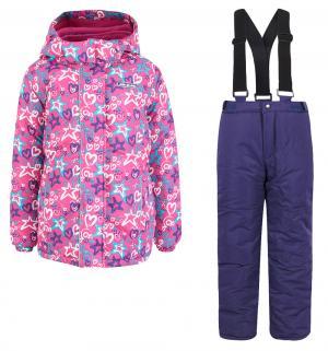 Комплект куртка/брюки  Снежные кометы, цвет: розовый Ma-Zi-Ma by Premont
