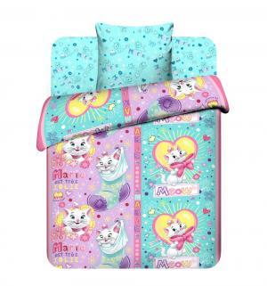 Комплект постельного белья  Проказница Мари, цвет: розовый/бирюзовый Василек