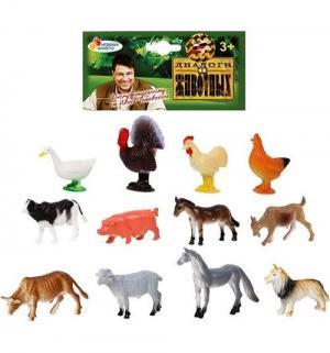 Игровой набор  12 домашних животных 6 см Играем Вместе