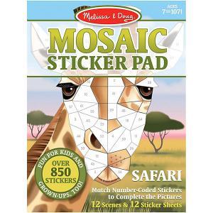 Набор  Мозаика-стикер Сафари Melissa & Doug