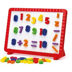 Магнитная доска с цифрами , Quercetti. Цвет: разноцветный