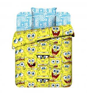 Комплект постельного белья  Губка Боб, цвет: желтый 3 предмета наволочка (70 х 70 см) Василек