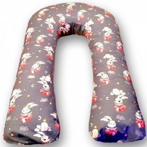 Подушка для беременных U Зайка (перкаль) 340х35 БиоСон