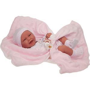 Кукла-младенец  Ирен в розовом, 42 см Munecas Antonio Juan. Цвет: розовый