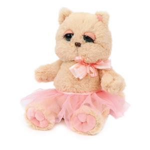 Мягкая игрушка  Киска Персик в юбочке, бежево-розовая Angel Collection. Цвет: бежевый/розовый