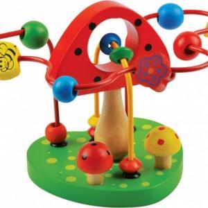 Деревянная игрушка  Лабиринт Грибочек QiQu Wooden Toy Factory