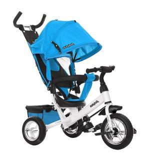 Трехколесный велосипед  Comfort 10x8 EVA, цвет: голубой Moby Kids