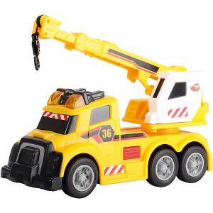 Машина с краном  со светом и звуком Dickie Toys