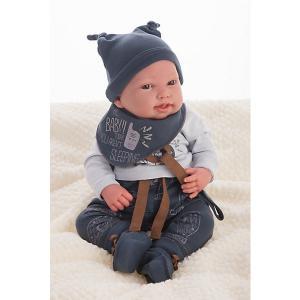 Кукла Juan Antonio Munecas Реборн младенец Джо, 40 см. Цвет: серый