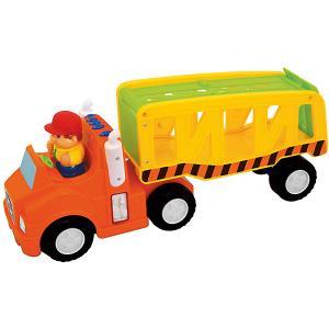 Развивающая игрушка Автоперевозчик Kiddieland. Цвет: orange/gelb
