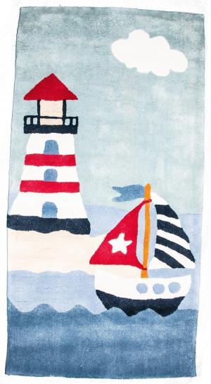 Ковер  с морским рисунком, размер 70х140 см Sai Carpets