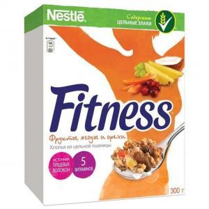 Готовый завтрак  Fitness с фруктами, 300 г, 1 шт Nestle