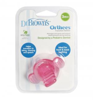 Прорезыватель Dr.Browns Orthees переходный розовый Dr.Brown's