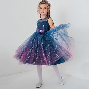 Нарядное платье  Dart Unona. Цвет: синий