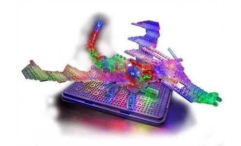 Конструктор  Набор 57 в 1 Дракон с 3D панелью Laser Pegs