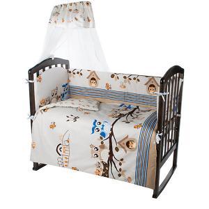 Комплект в кроватку  Совята, 7 предметов Ifratti. Цвет: разноцветный