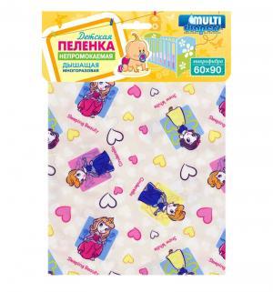 Пеленка Принцессы, цвет: желтый Multi-Diapers