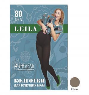 Колготки для беременных  80 den Leila glase, цвет: бежевый 40 Недель