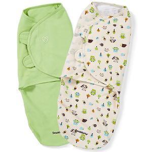 Конверт для пеленания на липучке , зеленый, лесные друзья Summer Infant. Цвет: зеленый