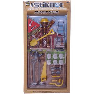 Фигурка с аксессуарами Stikbot Дачник, коричневый Zing. Цвет: коричневый