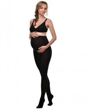 Колготки для беременных и кормящих  250 den с модалом, цвет: черный Мамин Дом