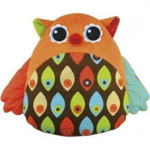 Интерактивная мягкая игрушка Ks Kids Музыкальная сова цвет: коричневый/белый/черный K's