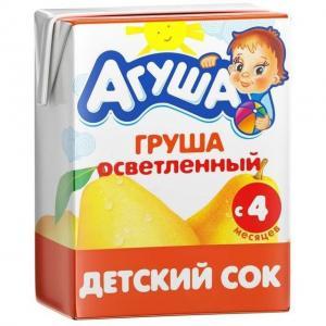 Сок  груша, 200 мл Агуша