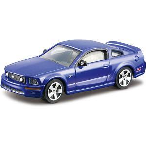 Коллекционная машинка  Ford Mustang GT 1:43, синяя Bburago. Цвет: синий