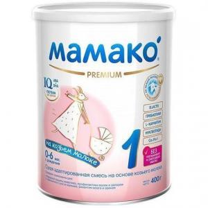 Молочная смесь  Premium на основе козьего молока 0-6 месяцев, 400 г Мамако