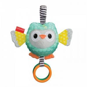 Подвесная игрушка  Сова с разными текстурами Infantino