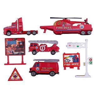 Набор Служба спасения - пожарная команда  9 штук Welly