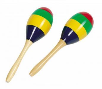 Музыкальный инструмент  Маракасы Яркие полоски Goki