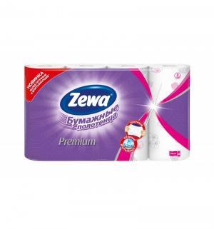 Бумажные полотенца Premium декор , 4 шт Zewa