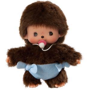 Мягкая игрушка  Бэбичичи, мальчик в подгузнике, 15 см Monchhichi. Цвет: разноцветный