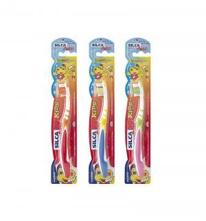 Зубная щетка  Putzi Kids, цвет: желтый/синий Silca