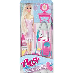 Кукла  Уборка Ася, 28 см Toys Lab. Цвет: розовый