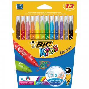 Цветные фломастеры Колор 750 12 цветов BIC