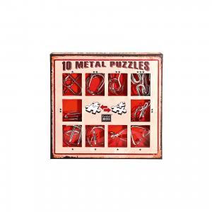 Набор из 10 металлических головоломок (красный), Эврика Eureka