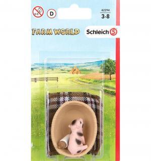 Игровой набор  Farm Life Мини-свинка и бутылка с молоком Schleich
