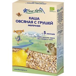 Каша  молочная овсяная с грушей, 5 мес Fleur Alpine