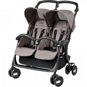 Прогулочная коляска для двойни Peg-Perego Aria Shopper Twin, Mod Beige Peg Perego. Цвет: бежевый
