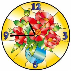 Часы витражные Маки Color Kit