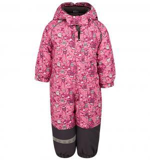 Комбинезон  утепленный, цвет: розовый Lappi Kids
