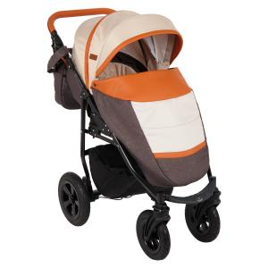 Прогулочная коляска  Panda NEW, цвет: коричневый/бежевый/карамель Prampol