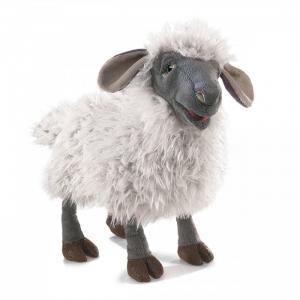 Мягкая игрушка  Овца озвученная 38 см Folkmanis