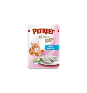 Влажный корм  для взрослых кошек, белая рыба, 85г Petreet