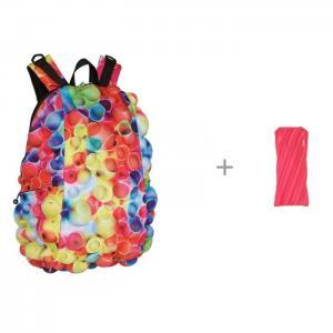 Рюкзак Bubble Full Tubular с пеналом-сумочкой Zipit Neon Pouch MadPax
