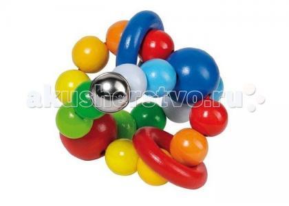 Деревянная игрушка  Эластик Мячик с колечками Heimess